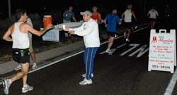 Aid Station Encourages Runners